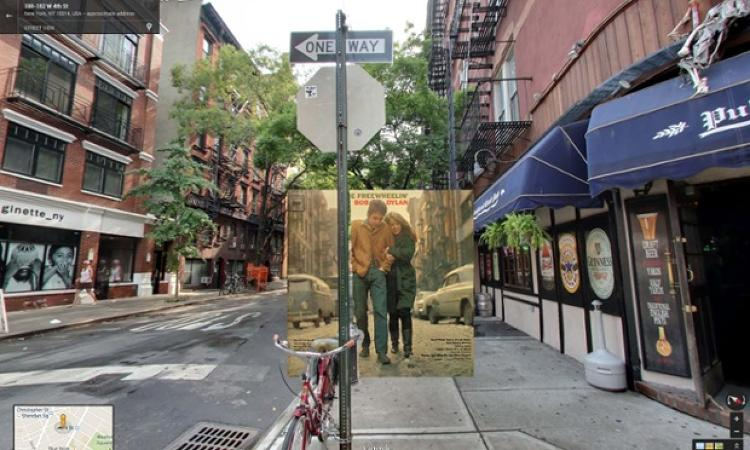 <p><em>The Freewheelin' Bob Dylan</em> by Bob Dylan. Bob, age 22, walks down Jones Street in the West Village, New York, with his girlfriend Suze Rotolo in 1963.</p>