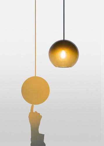 <p>The <em>Chiaroscuro</em> lamp, designed by Léa Pereyre, Claire Pondard, and Tom Zambaz,<br /> is a lamp turned on or off by touching its shadow.</p>