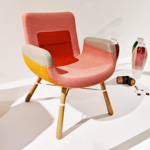 <p>Hella Jongerius's latest candy-colored lounge chair for Vitra.</p>