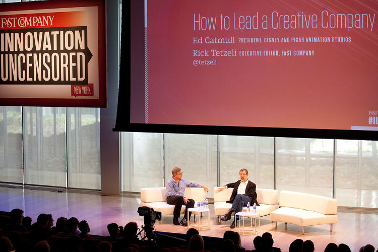 <p>Pixar President Ed Catmull choked up while talking about working with Steve Jobs. <a href=&quot;http://www.fastcompany.com/3028955/most-creative-people/how-steve-jobs-changed-pixar-and-how-pixar-changed-steve-jobs&quot; target=&quot;_self&quot;>Jobs helped Pixar as much as Pixar helped Jobs</a>.</p>
