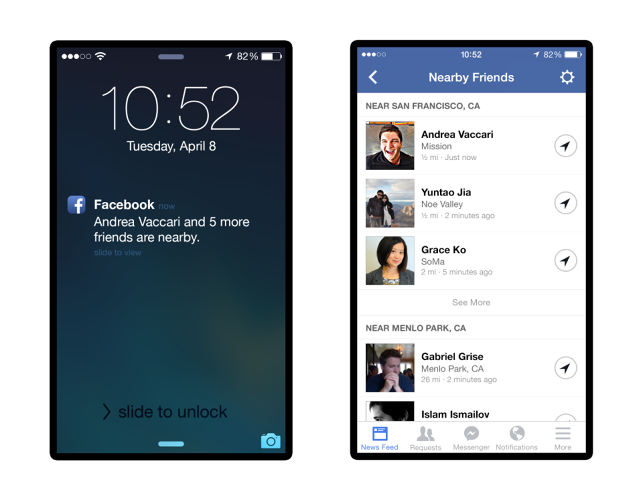 <p>Facebook users can specify which friends they want to receive notifications from when nearby.</p>