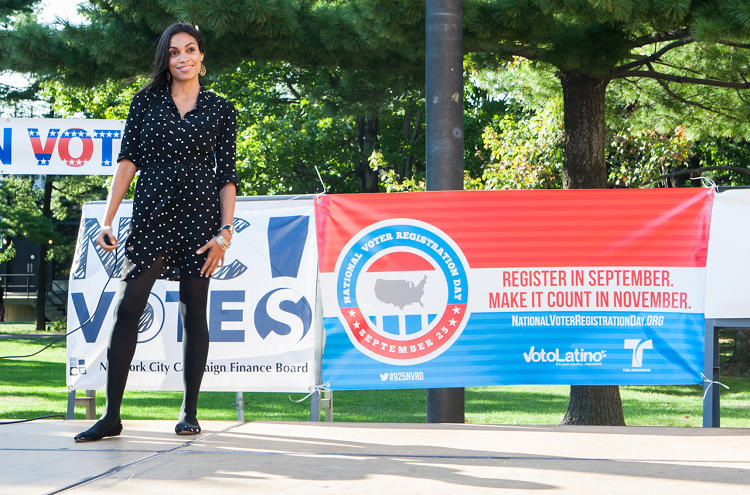 <p>Actor Rosario Dawson is Chairwoman of Voto Latino.</p>