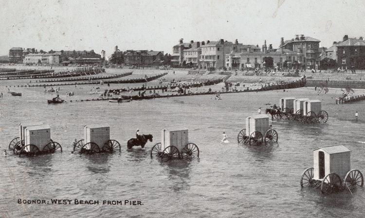 <p>Starting in the 1750s and lasting until the 1920s, the beaches of Europe began filling up with bathing machines.</p>