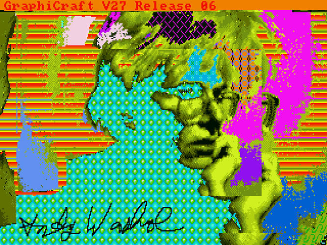 <p>A trippy self-portrait taken using the Amiga's proto webcam.</p>