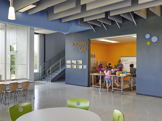 "<p>Another winner, the Buckingham County Primary and Elementary School in Virginia, created a teaching kitchen, a food lab lounge, a kitchen garden with raised beds, and a ""grab-n-go"" garden adjacent to play areas.</p>"