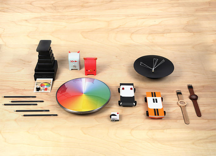 <p>Just one of the products here (the Annual Clock) is a Design Store exclusive; everything else was funded through Kickstarter. All the products can be bought at MoMA from May 13 to June 16.</p>