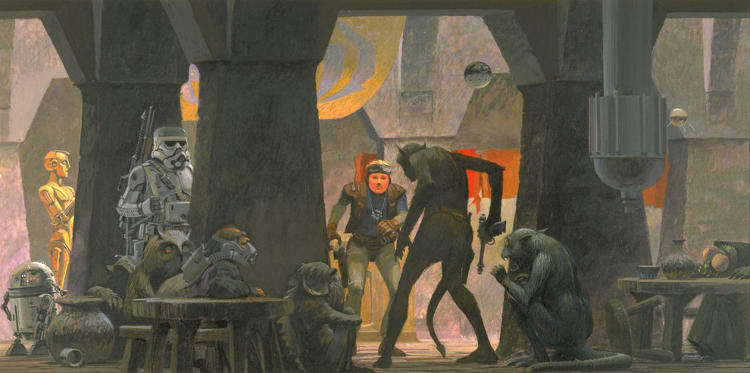 <p>McQuarrie's wildly imaginative tableaux--which George Lucas commissioned in 1975--was the basis for what would turn into a $4.38 billion franchise with a cult following.</p>
