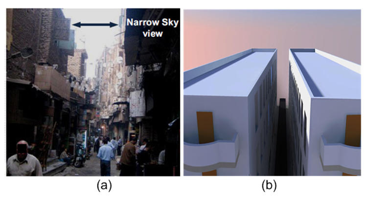 <p>Researchers in Egypt designed a plastic panel that can harvest light when it hangs off the edge of a rooftop, redirecting sunshine down into dark urban canyons below.</p>