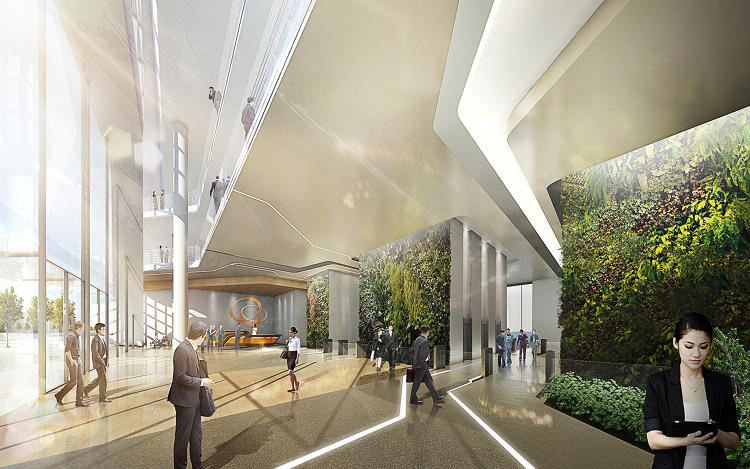 <p>The facade will be added to the Seoul headquarters of Hanwha, one of the world's largest solar panel manufacturers, which wanted its 1980s office to catch up with its green image.</p>