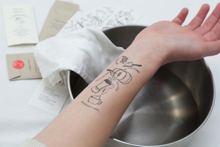 <p>To be spattered with sauce, sprayed with oil, dolloped with drippings, and occasionally lit on fire--these are the tortures that face any cookbook in the kitchen. But why bother consulting a cookbook at all when you can just read your favorite recipe off your arm? These genius tattoos make it happen.</p>