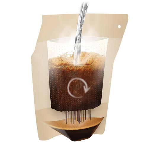 <p>His solution: the Coffeebrewer, a pourable brewing pouch.</p>