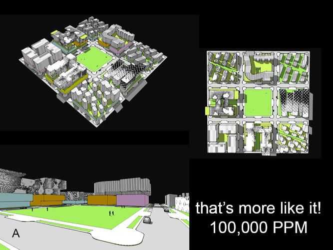 <p>With some additional 6-story buildings in a neighborhood, suddenly it would be possible to accommodate the number of people who want to live in the city.</p>