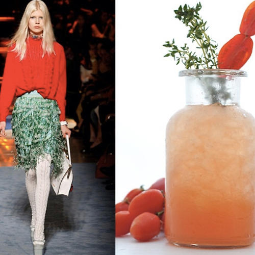<p>Taking photos straight from the runway, the site uses catwalk styles as inspiration for creative recipes.</p>