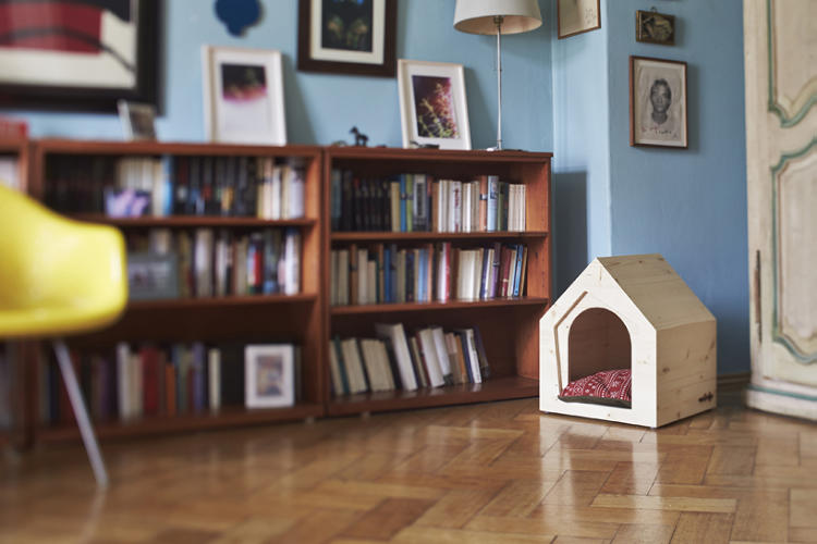 <p>The goal was to turn the standard doghouse, usually found in the backyard, into a piece of contemporary design beautiful enough for a downtown loft, or prewar brownstone apartment.</p>