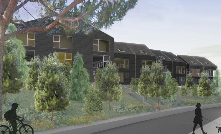 <p>It's not unusual for some residential streets in L.A. to look a little like the burbs, with big houses, driveways, or garages in front.</p>
