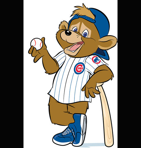 <p>Probably either fully naked or fully clothed is the way to go for a mascot. Nobody told the Chicago Cubs, though.</p>