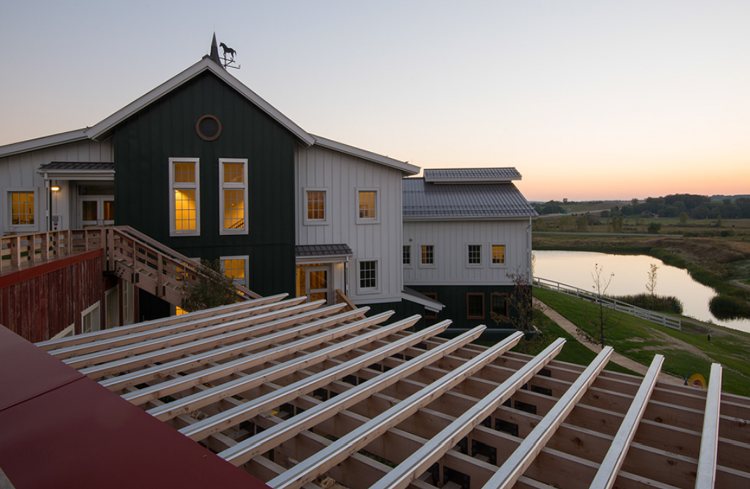 <p>The latest campus, with 319,000 interior square feet of new offices, reflects its farmland surroundings with imaginative rethinkings of the icons of a classic Wisconsin dairy farm.</p>