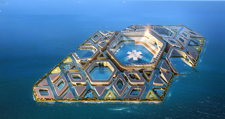 <p>This self-sustaining, floating city could be the next big wave of urban growth in China.</p>