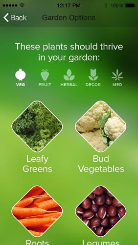 <p>The system then detects your location and suggests suitable plants for your area, based on soil conditions, what other nearby people are growing, and historical weather patterns.</p>