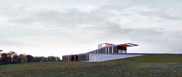 <p>Another home by Johnsen Schmaling Architects in Blue Mounds, Wisconsin, blends seamlessly with the surrounding prairie with a building skin that mimics the look of wind-swept grasses.</p>