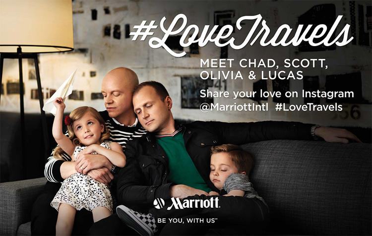 <p>Basketball player Jason Collins, transgender model Geena Rocero, and members of the LGBT community are starring in a new Marriott campaign aimed at attracting gay travelers.</p>