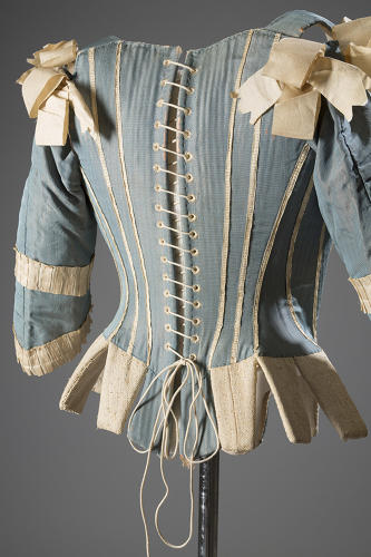 <p>We have feminism to thank for making our underwear more comfortable, a truth that's clearly reflected in <em>Exposed: A History of Lingerie,</em> now on view at the Museum at Fashion Institute of Technology (FIT). Silk corset, circa 1770, Europe.</p>