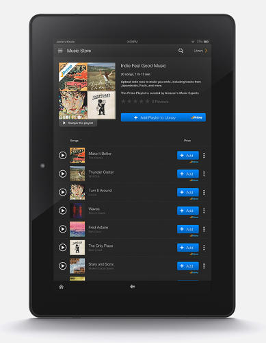 <p>To distinguish between songs available on Prime and for purchase, the Amazon Music app will denote Prime songs with a small check mark and &quot;P&quot; next to the title, as well as a blue button to add the track to the library. In contrast, songs not available through Prime will feature a yellow button and price tag.</p>
