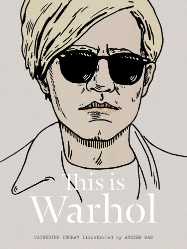 <p>Illustrator Andrew Rae used an &quot;icy&quot; palette for the backdrop  to Andy Warhol's life story.</p>
