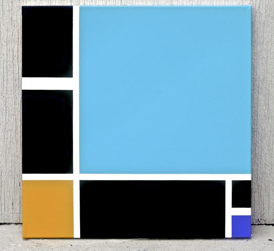 <p>Feld chose Mondrian because of its universal appeal and familiarity.</p>