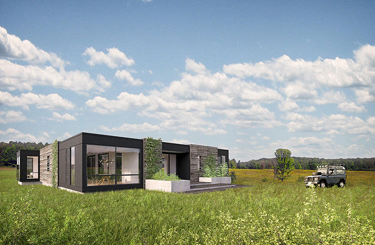 David rockwell is taking prefab to the luxury market co for Companies that build homes