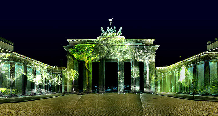 <p>The first is the public show on the buildings and monuments, which will be made up of trees generated in 3-D.</p>