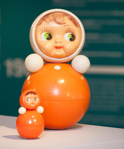 <p>&quot;Work and Play Behind the Iron Curtain,&quot; a new exhibition at the Gallery for Russian Arts and Design in London, examines the Soviet design through beloved objects like Nevalyashka dolls.</p>