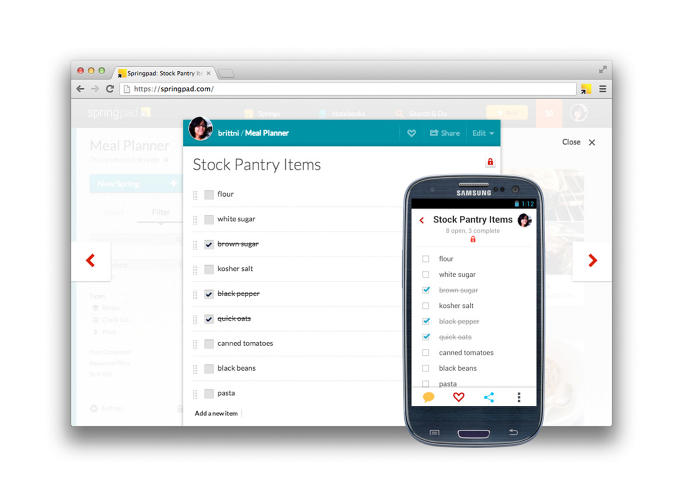 <p>The app's users saw Springpad primarily as a home organizing tool and personal assistant.</p>