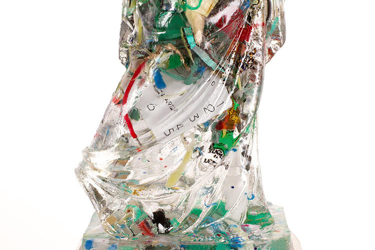 <p>Titled &quot;Souvenir,&quot; this piece is made from about 30 souvenirs, sanded or dismantled or modified in some way.</p>