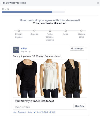 <p>Does Facebook's survey make you uncomfortable? Agree or disagree in the comments.</p>