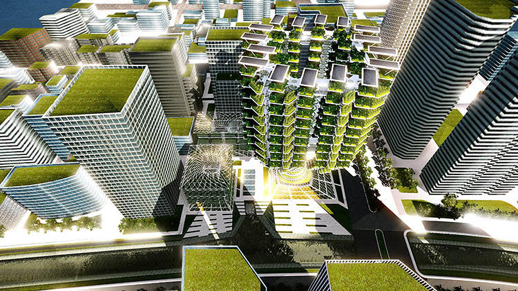 <p>The architects aren't the first to embrace the trend of sticking greenery on towers, but they may be one of the first to look at how to use the technique to maximize food production.</p>