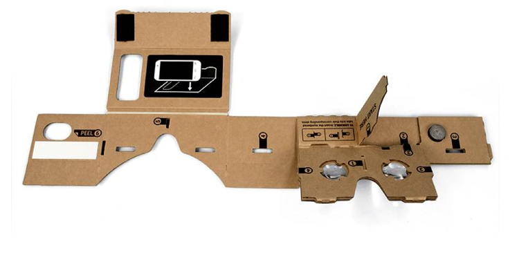 <p>Google's Cardboard, however, goes for a little under $20. There's no sound yet, but the developers noted that they'd be working on adding headphones soon.</p>