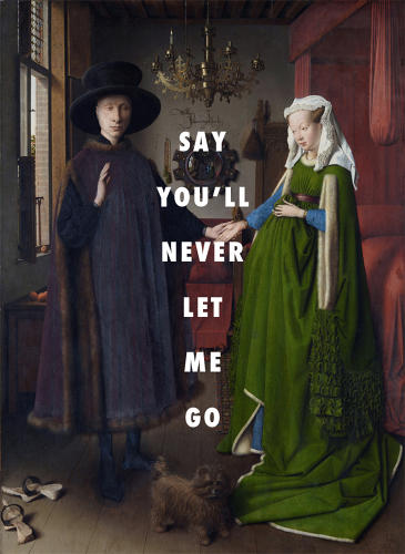 <p><em>The Arnolfini Marriage</em> (1434), Jan van Eyck / &quot;End of Time,&quot; Beyoncé</p>