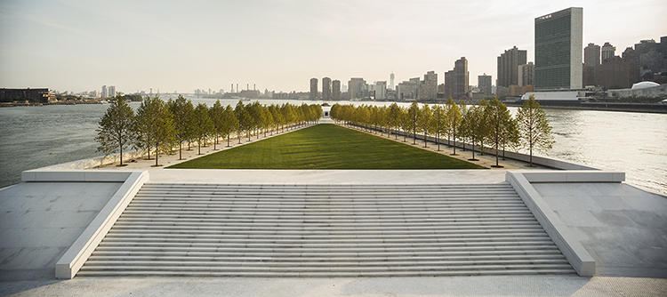 <p>His last project, a memorial park to Franklin Delano Roosevelt in New York City, opened in 2012.</p>