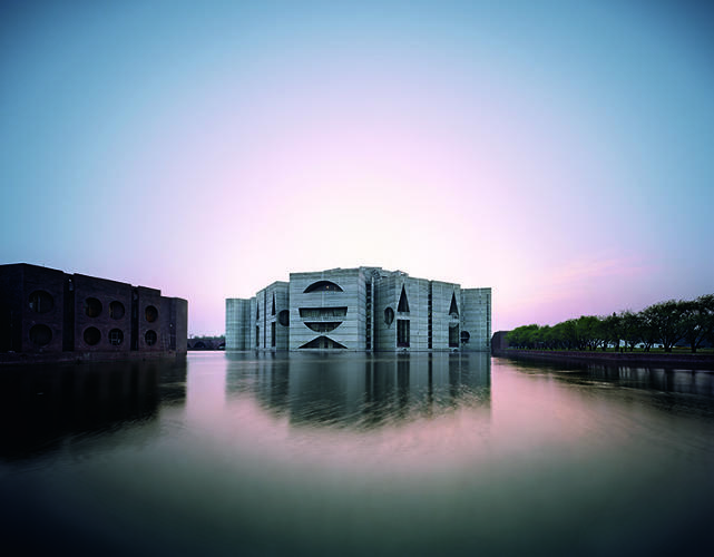 <p>His most well-regarded designs, like the National Assembly Building in Dhaka, Bangladesh and the Salk Institute for Biological Studies in La Jolla, Calif, are monumental, imposing institutions.</p>