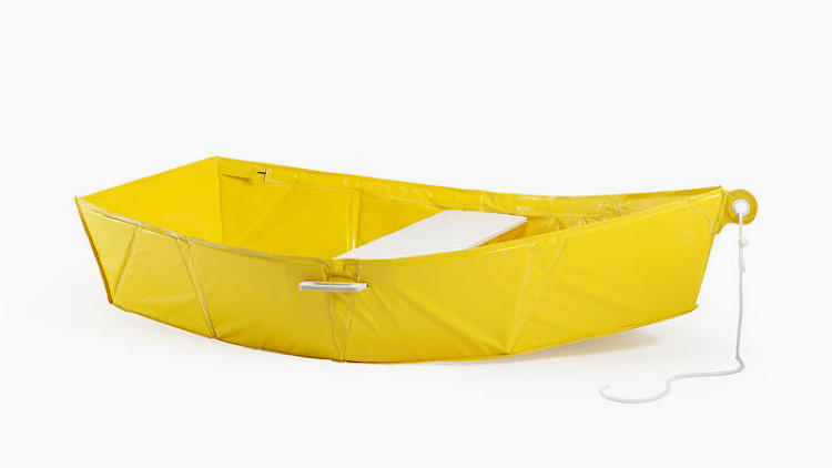 <p>There are plenty of inflatable boats, but they're rarely as compact and never as stylish as <a href=&quot;http://www.fastcodesign.com/1670132/this-super-lightweight-boat-folds-into-a-backpack&quot; target=&quot;_self&quot;>Thibault Penven's Ar Vag</a>. The Ar Vag is a boat made of the same material as a tarp, but through a clever use of metal poles and one seat that acts like a keystone, the boat retains the shape of a traditional rowboat dinghy. And it folds up into a package small enough to fit in a backpack.</p>