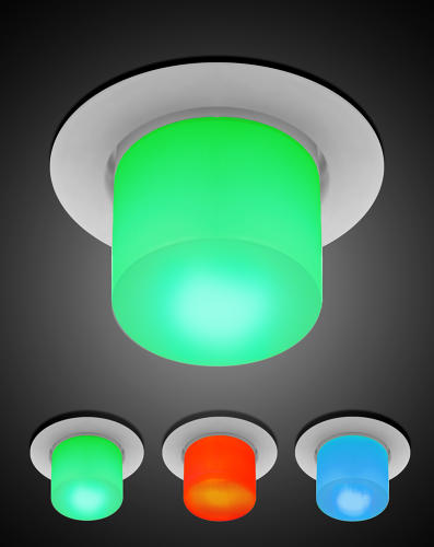 <p>Its simple LED light sensors turn green when a stall is free and red when it's occupied.</p>