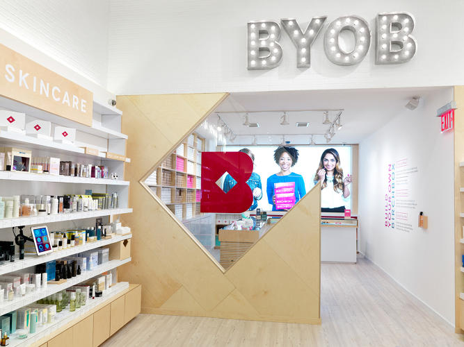 <p>The store also features two distinct nods to the signature boxes. The Birchbox of the month is showcased prominently at the front of the store, and there's a build-your-own box workshop in the back, where people can select various samples from a limited list.</p>