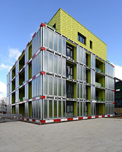 <p>The Bio Intelligent Quotient, a building powered with algae, has operated for the last year.</p>