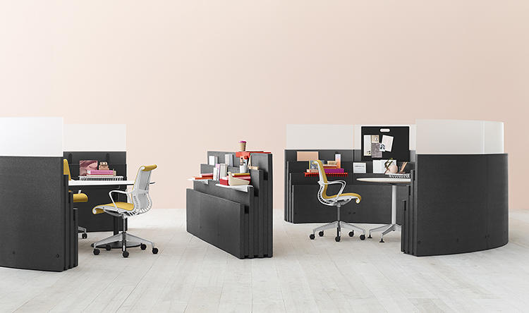 <p>Office work today is becoming more fluid, fast-paced, and collaborative. In response, Herman Miller--the century-old furniture company that first invented the modern open-office plan in the 1960s--is releasing a new concept of user-hackable furniture so workers can tear their cubicles down.</p>
