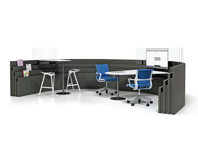 <p>Later, the space can be put back into cubicles when people need to plug away at their individual work.</p>