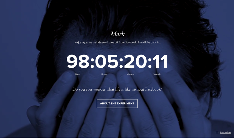<p>A project called 99 Days of Freedom, launched by Netherlands-based creative agency Just, invites users to replace their profile photo with a &quot;time off&quot; image, start a countdown clock, and take time each month to consider whether they might actually be happier offline.</p>