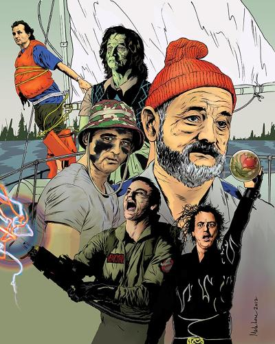 <p>Bill Murray will be the subject of honor in an upcoming art show in SF. Here's a selection of the 200 or so portraits that will be on display.</p>