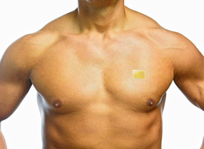 <p>MC10's Biostamp is one of the contenders. Thinner than a band-aid, and the size of just two postage stamps, the Biostamp can be affixed to any part of the body. Its sensors can monitor temperature, movement, heart rate, and more, and transmit this data wirelessly back to patients and their clinicians.</p>