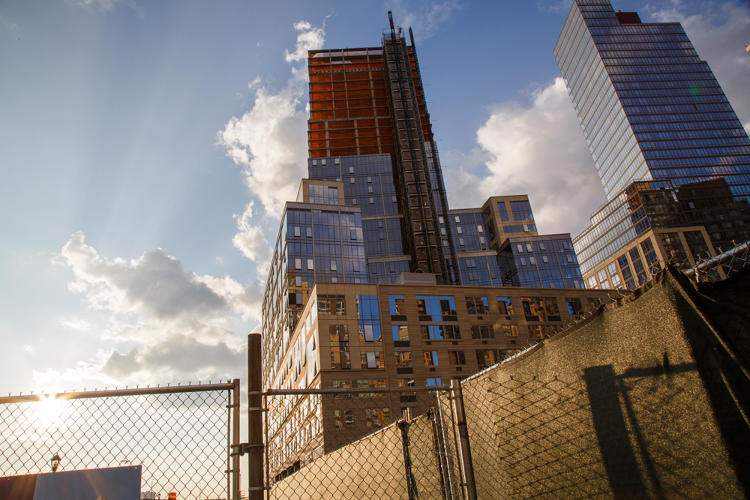 <p>The rich and poor residents of a building under construction on Manhattan's Upper West Side, in a high-end development called Riverside South, will have to use separate entrances to their collective home.</p>